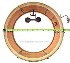 vintage drum guide how to measure a drums measuring a drum for ebay measure a drum set. Black Bedroom Furniture Sets. Home Design Ideas